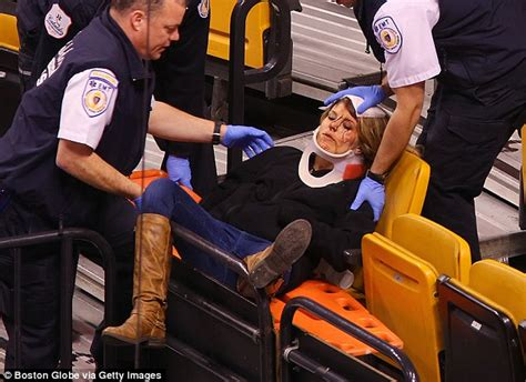 female hot and cold flashes pictured two female fans hurt when protective netting