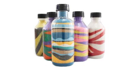 colors and bottles assorted shapes 100pc sand bottles the colored sand