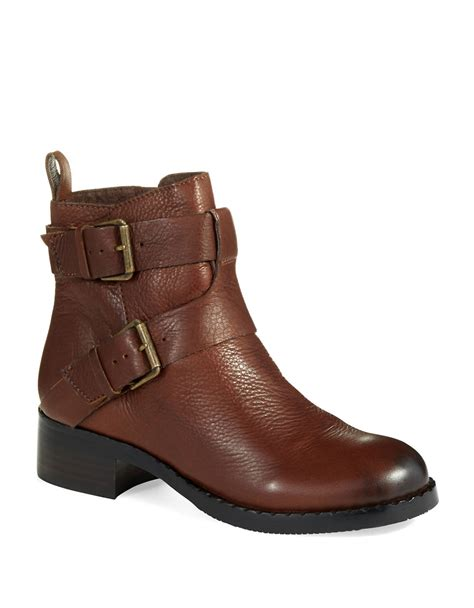 gentle souls boots gentle souls best of le buckled boots in brown lyst