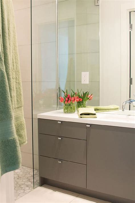 modern gray bathroom cabinets gray modern bathroom vanity with white quartz countertop