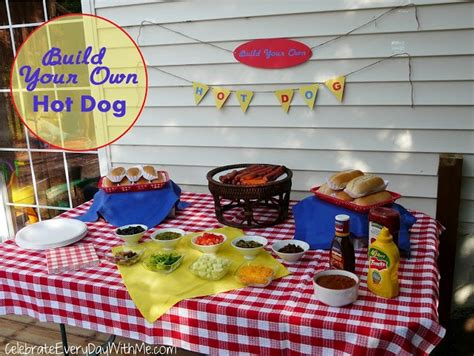 hot bar themes hot dog bar for outdoor movie night next outdoor movie