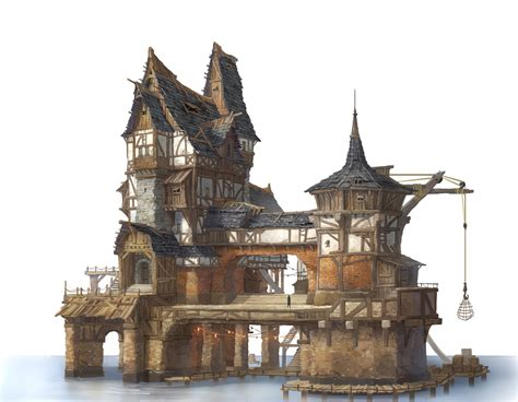 fantasy houses artstation private house in the lake village jung yeoll