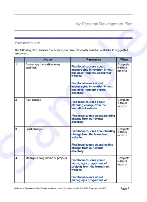 examples of staff development plans example of pdp for career