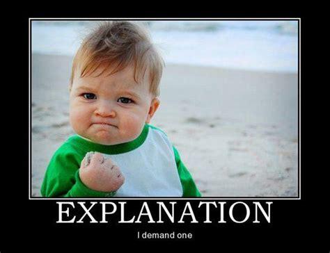 Meme Explanation - toddler shaking fist storkie com
