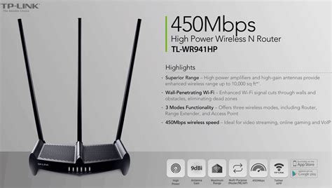 tp link tl wrhp mbps high power wireless  router nbn ready