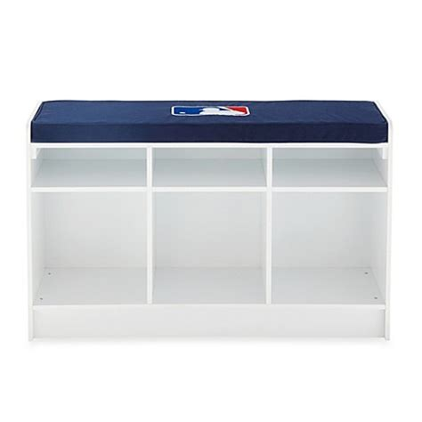 cube bench storage mlb 3 cube bench organizer in white buybuybaby com
