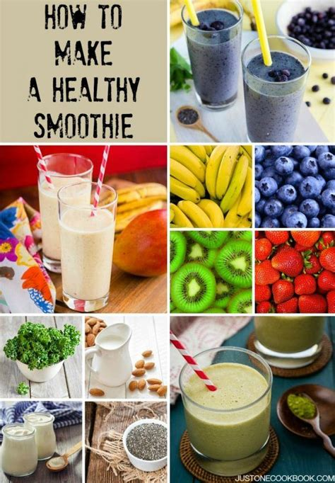 how to make healthy smoothies just one cookbook