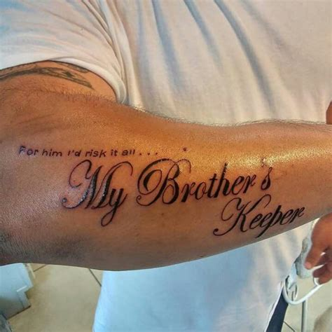 brothers keeper tattoo line tattoos quot my brothers keeper quot tats