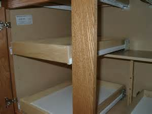 kitchen cupboard sliding shelves custom pull out shelving soultions diy do it yourself