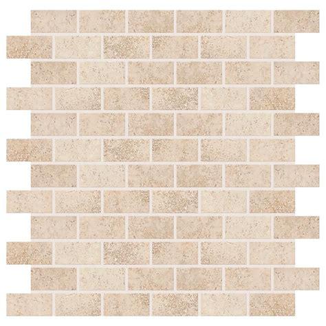Daltile Subway Tile Daltile Briton Bone 12 In X 12 In X 8 Mm Ceramic Mosaic