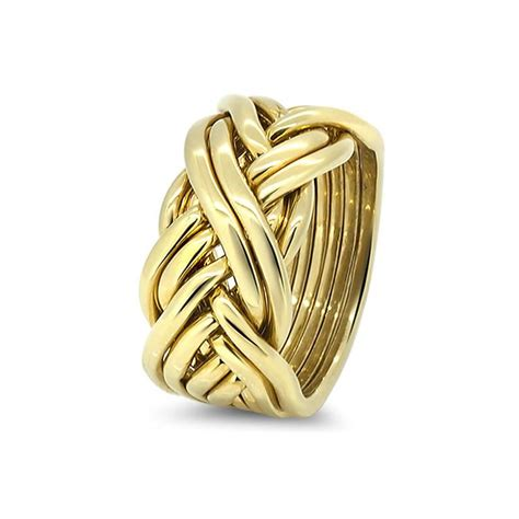 mens gold 8cw m puzzle rings creations