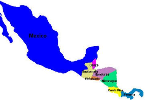 map of mexico and capitals speaking countries maps