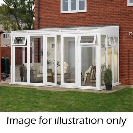 My House Floor Plan lean to full height conservatory 4644mm width x 2338mm