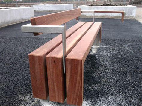 banc en bois avec dossier bloc wood banc avec dossier by factory furniture
