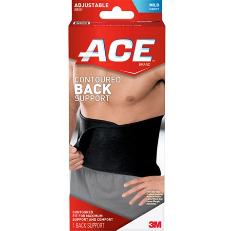 Support Walmart by Ace Contoured Back Support 205324 One Size Adjustable