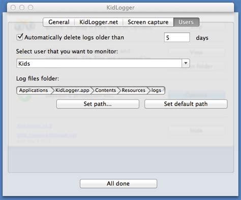 format log file parental control for mac