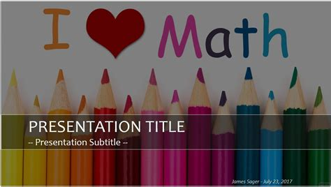 Free I Love Math Powerpoint 26655 Sagefox Free Powerpoint Templates Math Powerpoint Template