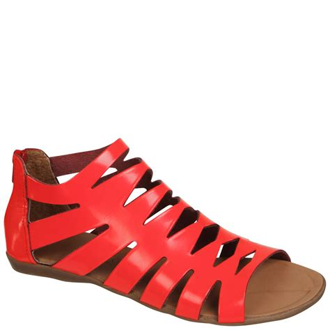 Sandal Wedges Jepit Hello Wedges Japit Hello Tb 1190 Merah grafea s gladiator leather sandals neon pink