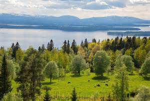 landscape mountains sweden view nature desicomments com