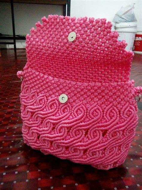 Tali Paracord 4mm Merah Maroon iddah amalina lina macrame macrame bag macrame design and macrame