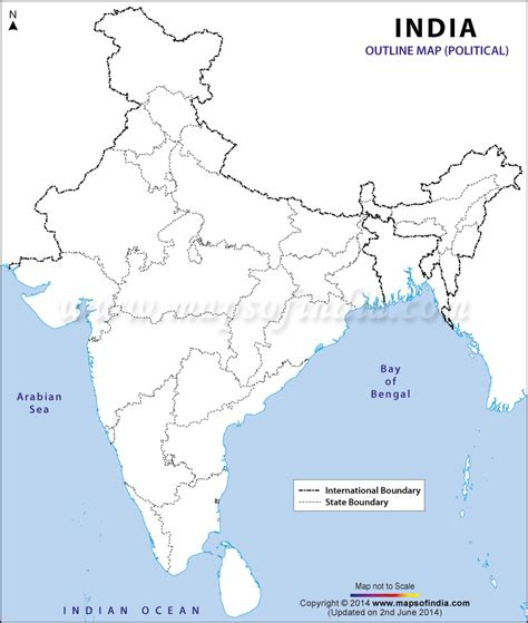 printable india map political india political map in a4 size geography for kids