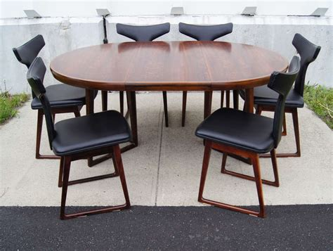Rosewood Dining Table And Six Chairs By Arne Vodder For Rosewood Dining Table And Chairs