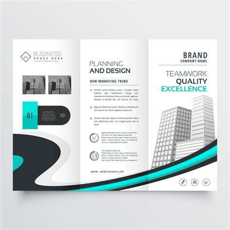 Stylish Trifold Brochure Design Presentation Template Download Free Vector Art Stock Graphics Brochure Presentation Template