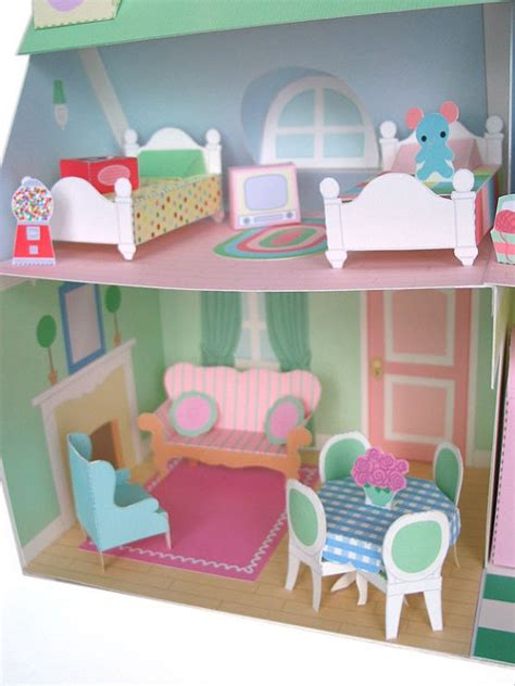 How To Make Paper Dollhouse Furniture - dollhouse furniture printable paper craft pdf