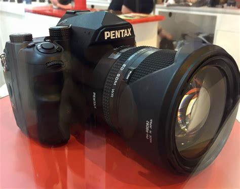 pentax frame pentax k 1 pentax frame dslr on display photo rumors