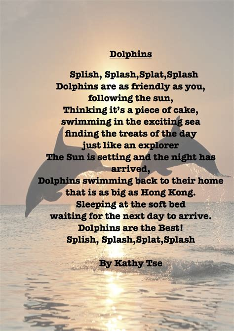 a poem dolphin poems