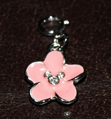 sterling silver 925 mickey mouse flower charm with