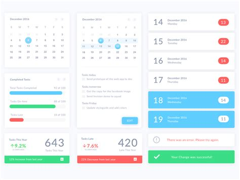 Home Design Software Free calendar ui elements sketch freebie download free