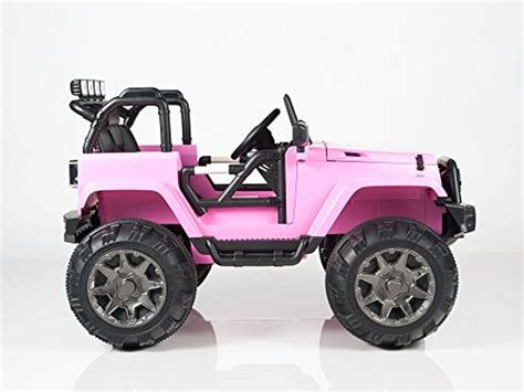 pink kids jeep kids 12v battery operated ride on jeep truck with big