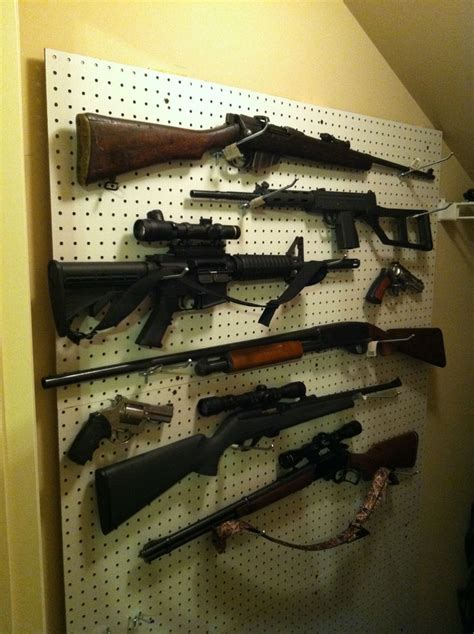 Pegboard Gun Rack by 1000 Images About Gun Organization On Before