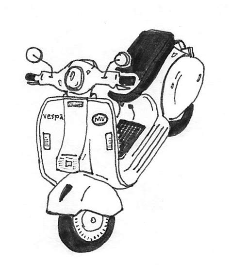 doodle vespa modern vespa let s draw scooters