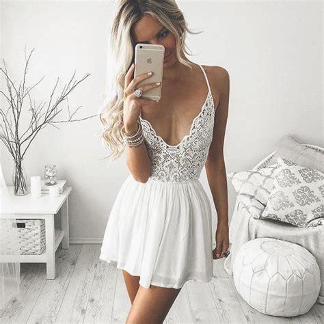 Bonito White Dress white addicted image 3969073 by lucialin on favim