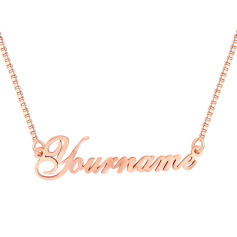 custom name necklace 18k gold plated custom engraved your