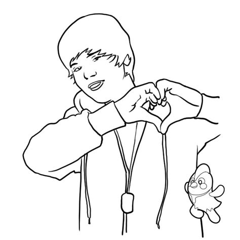 coloring pages of justin bieber coloring pages to print