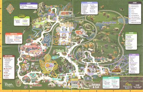 Busch Gardens Park Map by Busch Gardens Ta 2008 Park Map