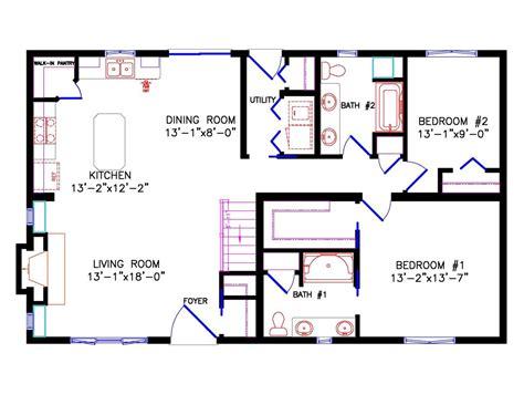 28x48 floor plans 28x48 floor plans 28 x 48 double wide cavco durango homes