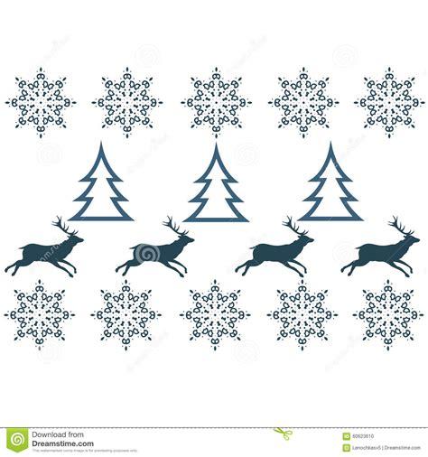 deer snowflake printable template winter sweater design deer snowflake stock vector