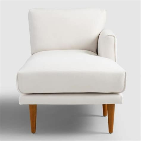 ivory chaise lounge ivory nica right arm facing chaise lounge world market