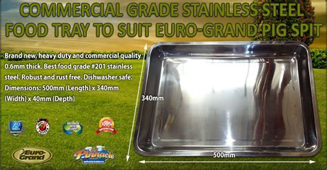 Commercial Grade Stainless Steel Food tray to suit Euro
