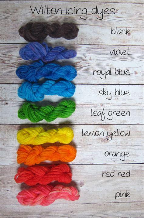 wilton icing color chart dye yarn with wilton icing dye freshstitches