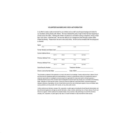 Pa Volunteer Background Check 9 Background Check Information Forms Templates Pdf