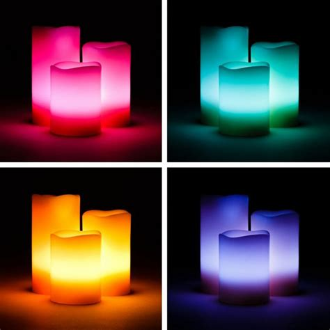 Battery Operated Candles That Change Colors by Battery Operated Flameless Real Wax Led Candles With