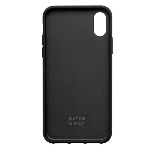 native union clic card case leather cover  card holder  iphone xs max black blink kuwait