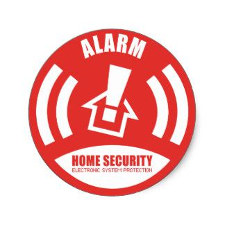home security stickers zazzle