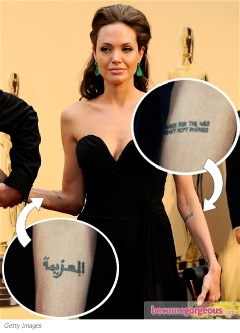 angelina jolie tattoo interview 5 famous celebrities with arabic tattoos barakabits