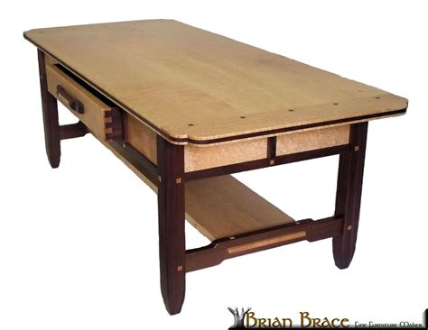 Birdseye Maple Coffee Table Hand Crafted Greene And Greene Coffee Table Birdseye